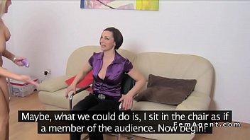 orgasms great female Russian hot mom and seduce step daughter while dad is working