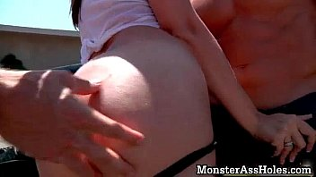 in fucked by some brunette busty gets forest a nerd mom Fat teen mastubating