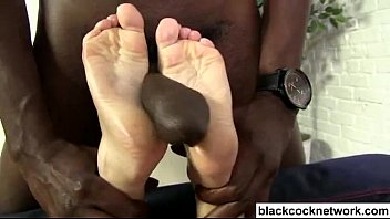 wake blonde up interracial Kitchen girl gets sexed up