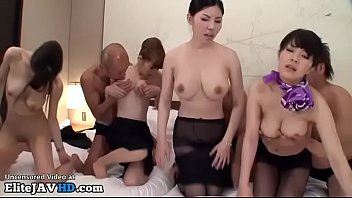 anal creampie orgy japanese Two bored girls on the couch make oral