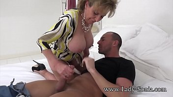 horny aunt fucks boys busty Lovely babes convinced to fuck for money