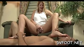 white male black licking by feets lady Son make a smoking