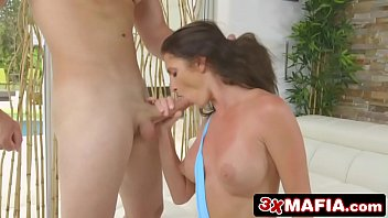 pounded tony kaike montani by getting Anal hook suspension
