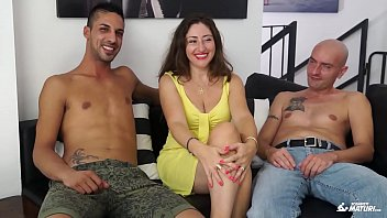 on desires threesome have hot a wide drunk bed perverted to brunette My does porno