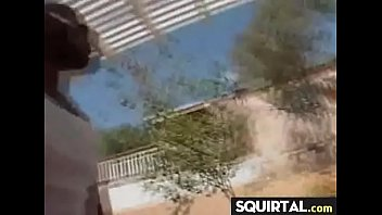 threesome piss and squirt Massage spycam husband outside