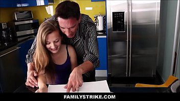 with dubbed hindi daughter in dad Asian stretches cervix